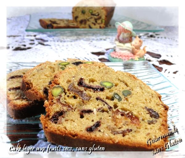 Cake léger aux fruits secs, sans gluten