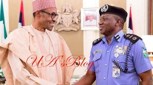 BREAKING: Buhari, IG Idris meet inside Aso Rock