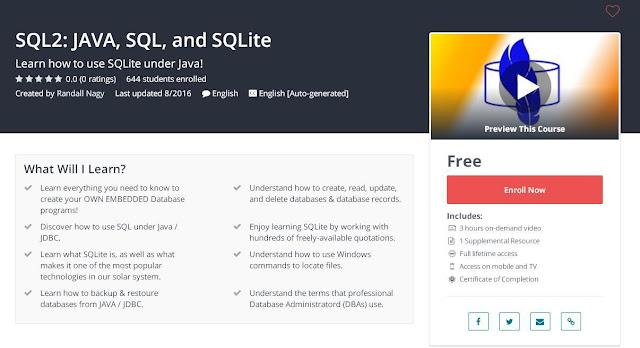 SQL2: JAVA, SQL, and SQLite