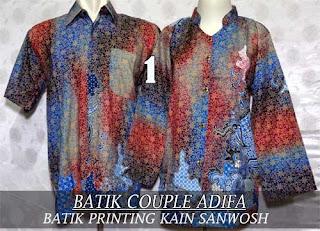 Baju Batik Couple Muslim Terbaru A Modern Harga Murah