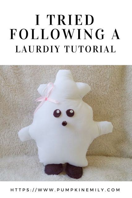I Tried Following a LaurDIY Tutorial | No Sew Baby Chick Pillow