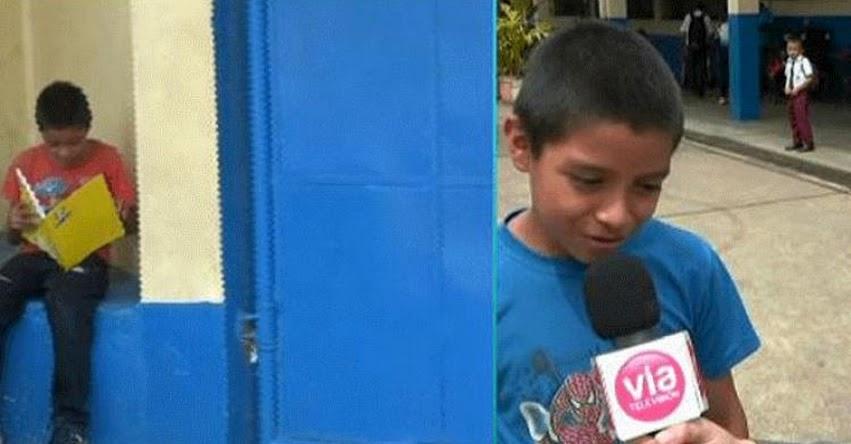 Conoce la historia del niño que camina varias horas todos los días para llegar a su colegio