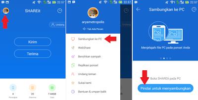 cara transfer file dari pc ke android dengan shareit
