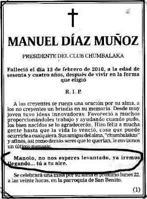 Manuel Díaz Muñoz,presidente club Chumbalaka