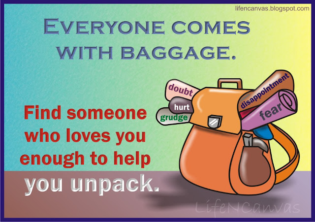 carry the baggage friend