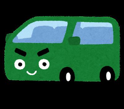 ワゴン車のキャラクター