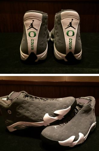 new concept 80752 f7944 Here is a look via OregonFBequip at the new Air Jordan 14 Oregon Ducks PE  Sneaker which is as usually...completely awesome! Check out more images  after the ...
