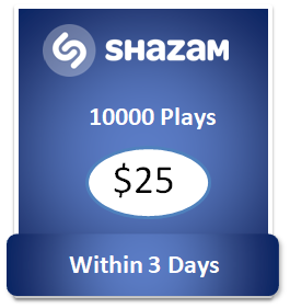 10000 buy Shazam Plays