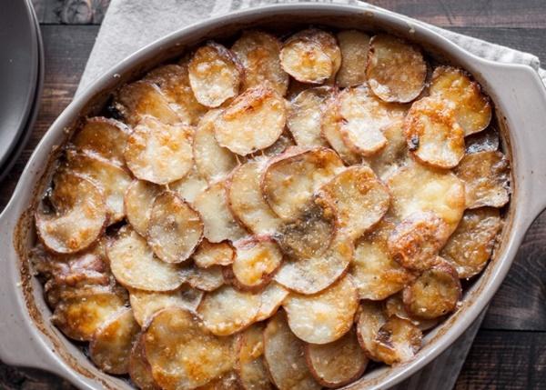 Funghi Con Patate In Teglia