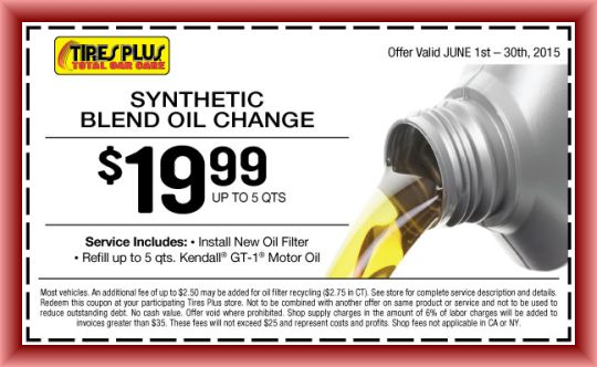 Tires Plus Oil Change Coupon And Other Offers From Tires Plus Total Car Care