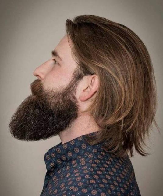 Mann langes haar Lange oder