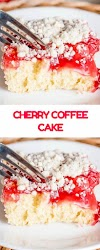 Cherry Coffee Cake - Cookies Cooking Corner
