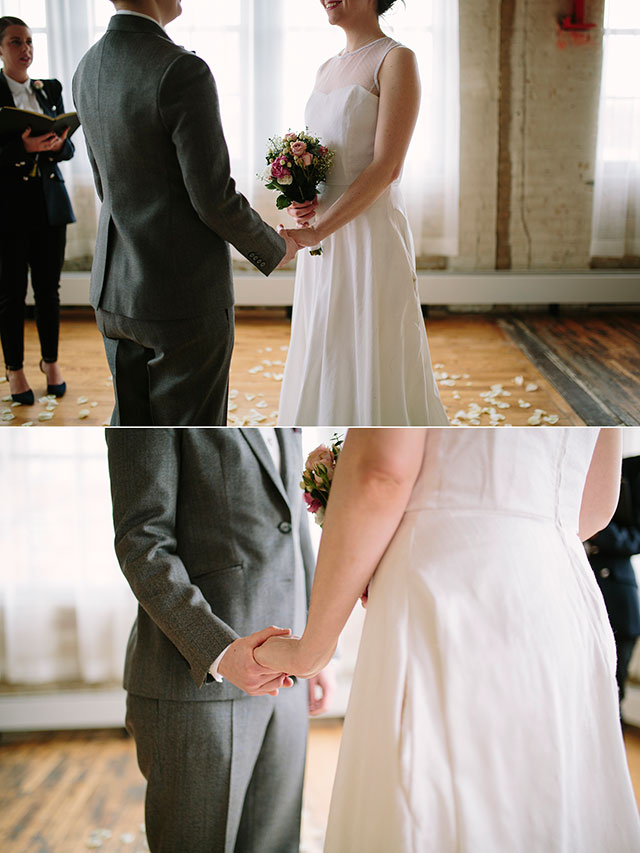 Ceremony details at the Machine Shop in Minneapolis, MN | Photography by Jessica Holleque
