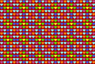 Fondos de pantalla de corazones de colores