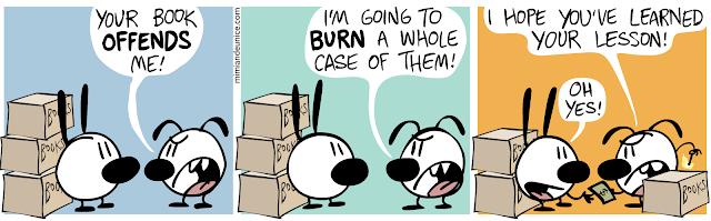 Mimi and Eunice - Book burning