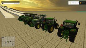 John Deere tractors and front loader pack