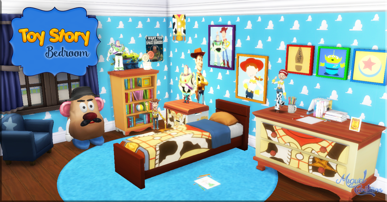 my sims 4 blog toy story bedroom setmiguel