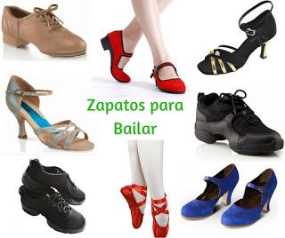 zapatos de baile, zapatillas para bailar, tipos, zapatillas sneakers, ballet,