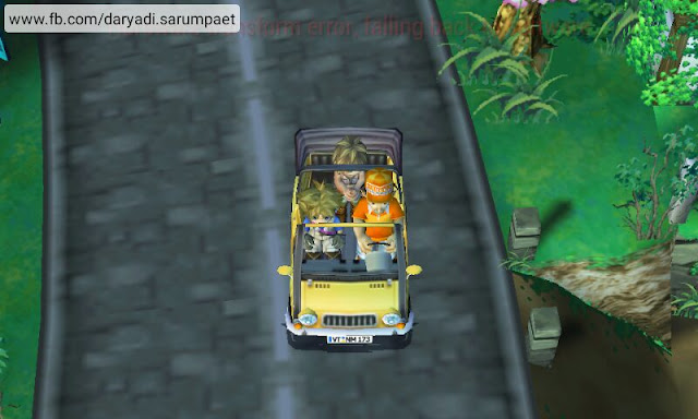 harvest moon innocent life psp game ride car in city