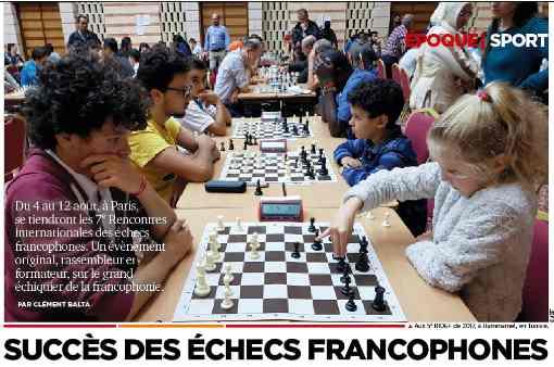 Les 7èmes Rencontres des Échecs Francophones à Paris