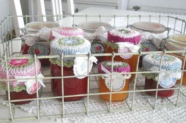 Tapas de Crochet para Frascos Patrones
