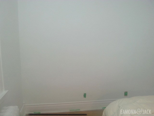 Primed Bedroom wall