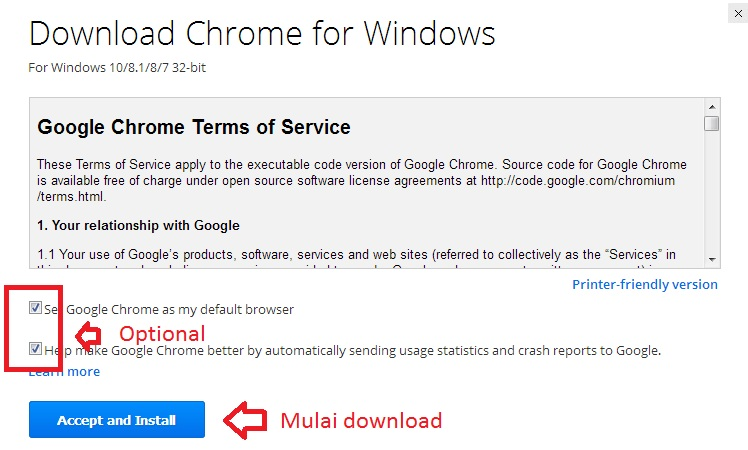 Cara Download Browser Google Chrome Offline Installer 32/64