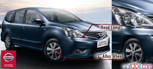 Nissan Grand Livina Memiliki desain mobil elegan