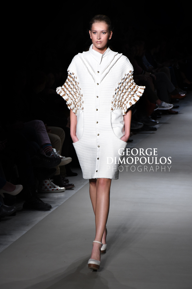 Fashion Designer AVGOUSTA THEODOULOU by GEORGE DIMOPOULOS PHOTOGRAPHY at the AXDW FASHION WEEK in ATHENS