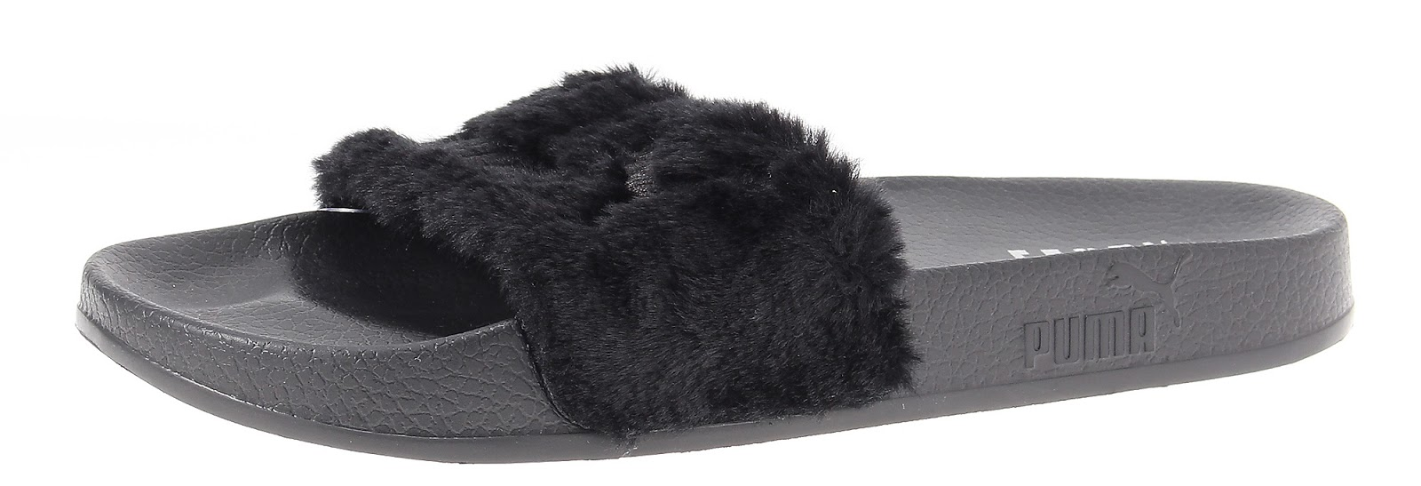 shoe of the day puma by rihanna collection fur slides by. Black Bedroom Furniture Sets. Home Design Ideas