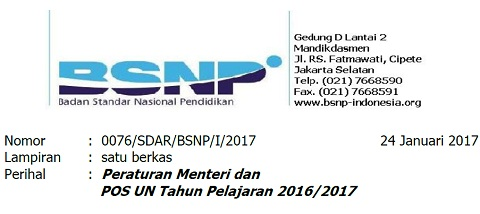 POS UN 2017 SMP/MTs SMA/MA/SMK Sederajat