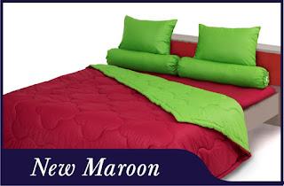 Sprei & Bedcover Shyra Polos - New Maroon