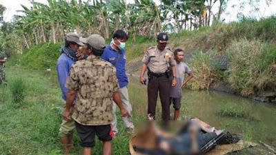 Sosok Mayat Yang di Temukan  Desa Kendalrejo , yaitu Subur Widodo