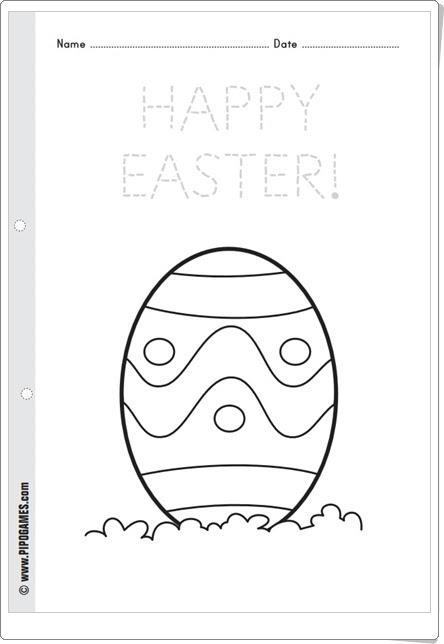 """""""Huevos de Pascua"""" (Fichas para colorear de Eva Barceló en Pipoclub)"""