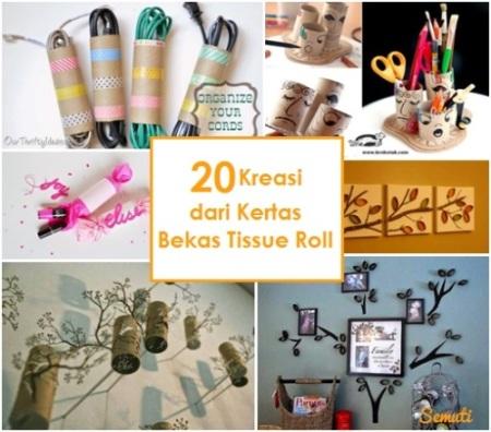 20 Kreasi Kertas Bekas Tissue Roll
