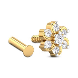 Floral Diamond Nose Pin