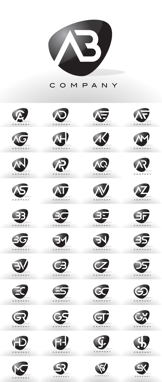 تحميل فيكتور مجموعة لوجوهات حروف جودة عالية