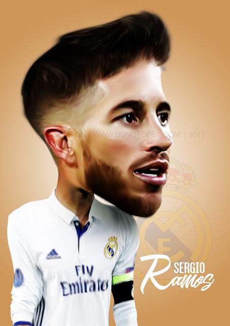 Karikatur Sergio Ramos