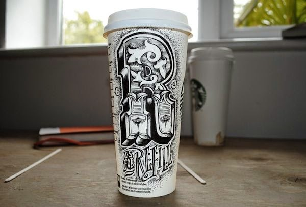 Rob Draper Coffee Cup Doodles
