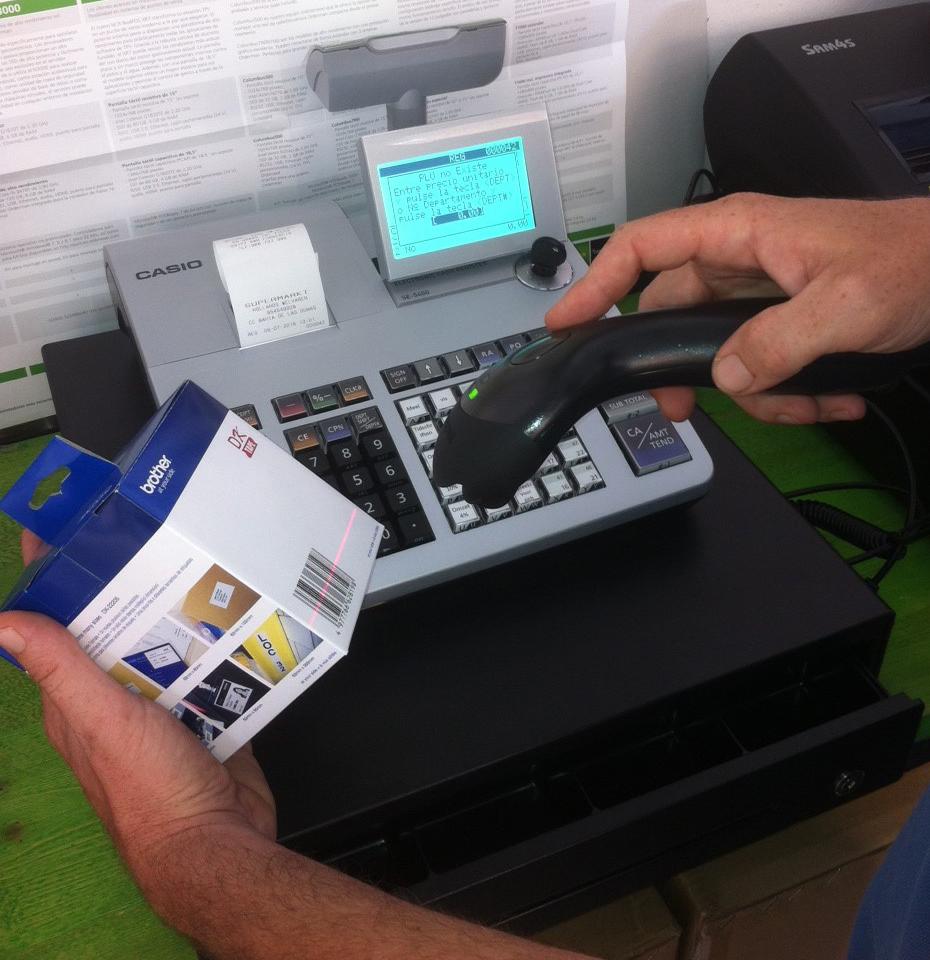 66529d8e429e Caja registradora para tiendas y supermercados Casio SE-S400