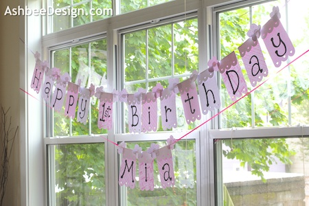 Ashbee Design Quick And Easy Diy Birthday Banner