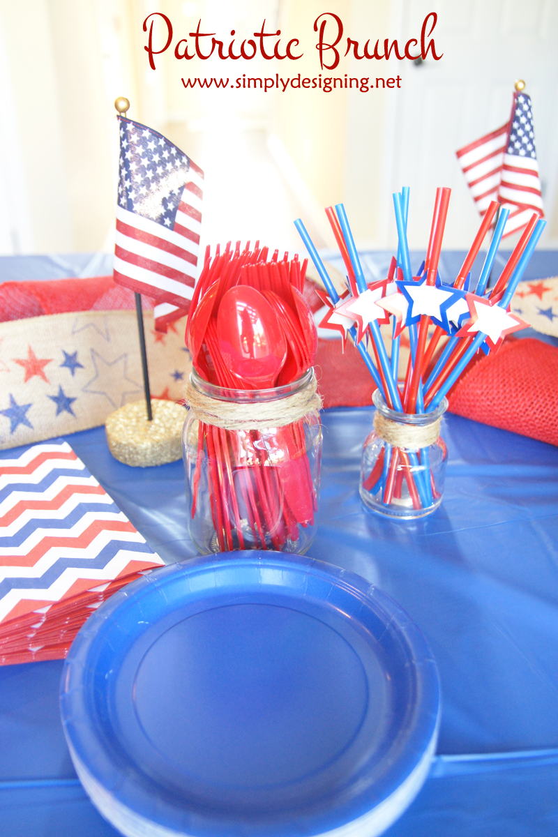 Patriotic Brunch Recipes | patriotic brunch recipes plus cute decorations and FREE Bingo printable | definitely pinning for later | #CMSalutingHeroes #CollectiveBias #shop #4thofjuly #patriotic #independenceday #recipes #breakfast #brunch