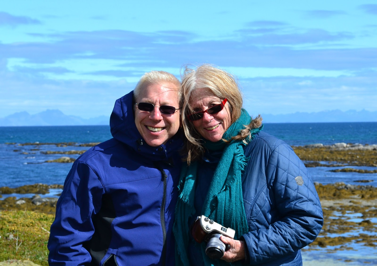Susan and I enjoying a few links at Lofoten Links in Hov, Norway.