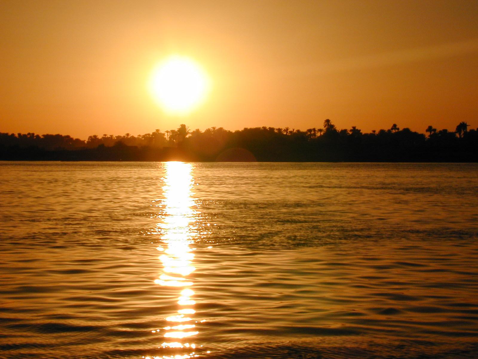 Egyptian Nile River and God Kings of Ancient Egyptian