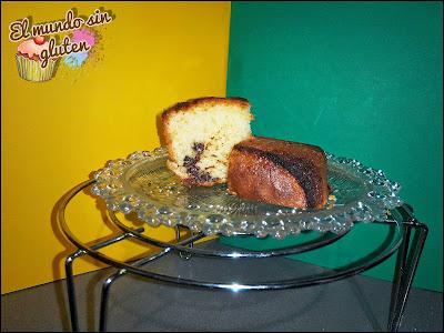 Plum Cake de vainilla y chocolate.