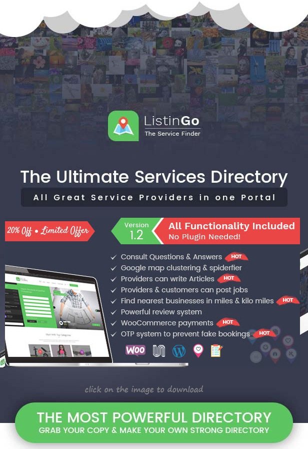 Download Premium Directory Listing WordPress Theme
