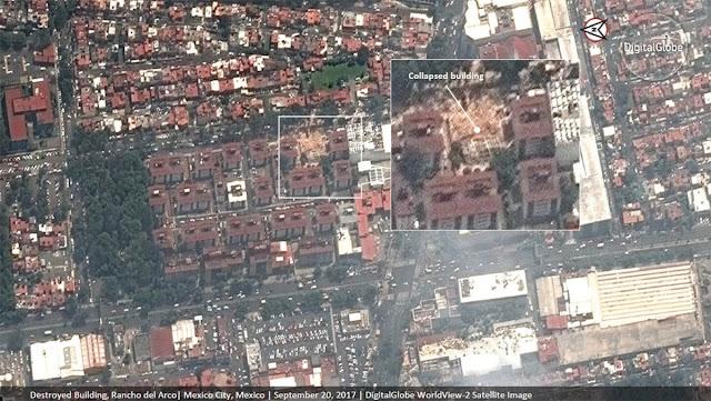 Segunda imagem do centro do México após o terremoto de 7.1  feita pelo satélite WorldView-2 da DigitalGlobe