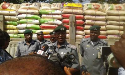 Image result for Customs impounds 600 bags of foreign rice in Bauchi