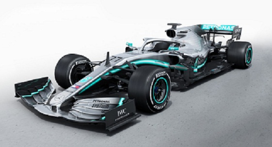 Mercedes New W10 Car for Formula 1 2019.