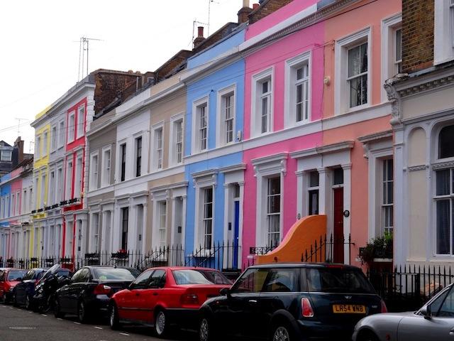 Casinhas da Região Notting Hill em Londres